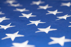 Stars on flag of United States of America - closeup studio shot Stock Photography