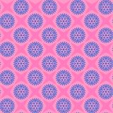 Stars and flowers. repetitive background. vector seamless patter. N. textile paint. fabric swatch. wrapping paper. pink and blue colors. floral pattern royalty free illustration