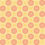 Stars and flowers. repetitive background. vector seamless patter. N. textile paint. fabric swatch. wrapping paper. pink and yellow colors. floral pattern royalty free illustration
