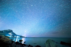 The stars in the form of decaying traces. South Crimea. From Tim