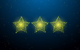 Stars form lines, triangles and particle style design vector illustration