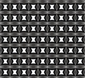 Stars forms in black and white, repeated pattern Stock Photography