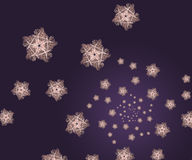 Stars fractal background Stock Photos