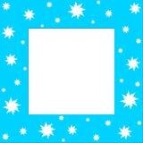 Stars frame. White stars on blue frame Stock Photos