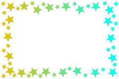 Stars Frame Sky Light Colors royalty free illustration