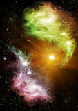 Stars and galaxies Royalty Free Stock Images