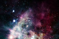 Stars, galaxies and nebulas in awesome cosmic image. Elements of this image furnished by NASA royalty free stock images