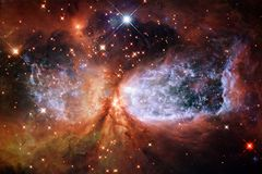 Stars, galaxies and nebulas in awesome cosmic image. Elements of this image furnished by NASA royalty free stock image