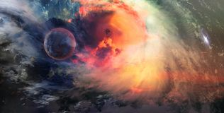Stars and Galaxies in Outer Space Showing the Beauty of Space ex Royalty Free Stock Photography