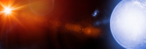 Stars and Galaxies in Outer Space Showing the Beauty of Space ex. Celestial Art, Stars and Galaxies in Outer Space Showing the Beauty of Space exploration Royalty Free Stock Photo