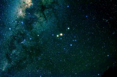 Stars and galaxy space sky night background. Africa Stock Image