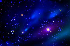 Stars and galaxy space sky night background. Stock Photos