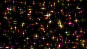 Stars Glittering and Moving Like Fire Flies stock video