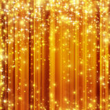 Stars  golden background. Stars descending on golden background Royalty Free Stock Images