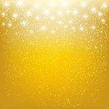 Stars on golden background Royalty Free Stock Photography