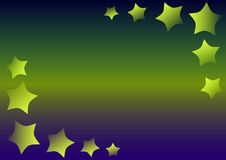 Stars on a gradient Royalty Free Stock Photography