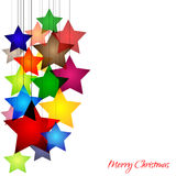 Stars. Graphic design - cheerful background with colorful stars Stock Photo