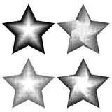 4 stars in halftone style Stock Photos