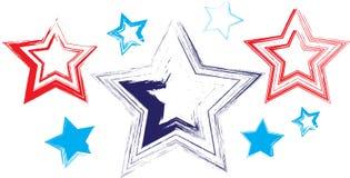 8 Stars Hand Drawn Royalty Free Stock Photos
