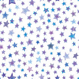 Stars hand drawn seamless pattern. Graphic illustration Royalty Free Stock Image