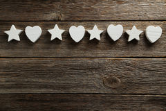 Stars and heart Royalty Free Stock Images