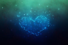 Stars Heart Illustration Stock Image