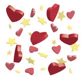 Stars and hearts Stock Images