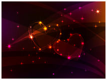 Stars hearts. Elegant background with two constellations in the form of two hearts Royalty Free Stock Photos