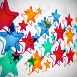 Stars Highway. Colorful stars isolated on the screen Royalty Free Stock Photo