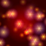 Stars Hintergrund im Rot Stockfotos