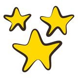 Stars, icon, children`s drawing style. Vector illustration Stock Photo