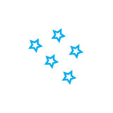 Stars icon isolated on white background. Vector illustration. Royalty Free Stock Photo