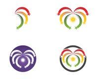Stars icon logo template.  Vector Illustration