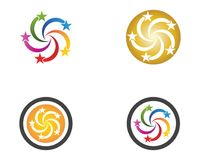 Stars icon logo vector template.  Vector Illustration