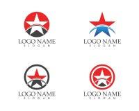 Stars icon logo vector template.  Royalty Free Illustration