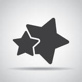 Stars icon with shadow on a gray background. Vector illustration Royalty Free Stock Photography