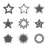 Stars icon. And vector illustration Royalty Free Stock Photo