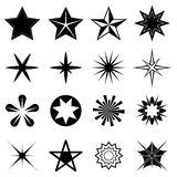 Stars icons set Royalty Free Stock Images