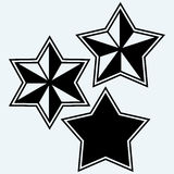 Stars icons set Stock Photography