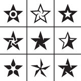 Stars icons set Stock Image