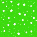 Stars illustration on green background Stock Images