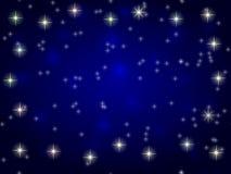 Stars In Blue Night Sky Stock Image