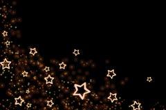 Stars isolated on black background royalty free illustration