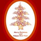 Stars l'albero di Natale Fotografia Stock