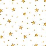 Stars l'oro senza cuciture del modello Immagine Stock