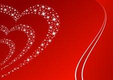 Stars la ilustración del corazón. stock de ilustración