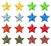 Stars la raccolta Illustrazione di Stock