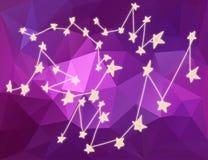 Stars le costellazioni in universo nel fondo del triangolo Fotografie Stock Libere da Diritti