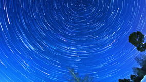 Stars leave traces. Fisheye. Time Lapse stock video