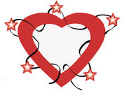 Stars with Love. Art work with vectors, illustration,clip-art free way Royalty Free Stock Photos